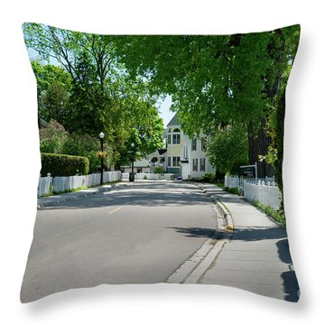 Mackinac Island Street Throw Pillow