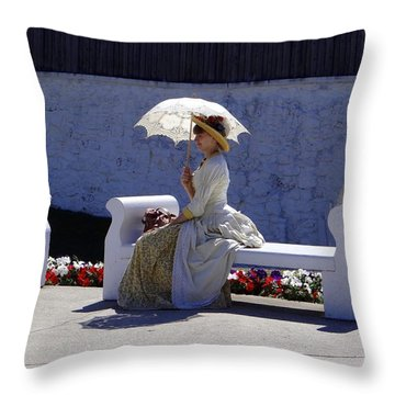 Mackinac Lady Throw Pillow
