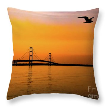 Mackinaw Sunset  Throw Pillow