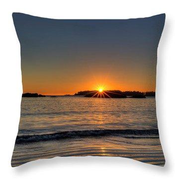 Mackinsie Beach Sun Burst Throw Pillow
