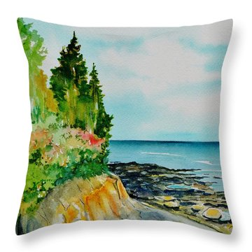 Mackworth Island Maine  Throw Pillow
