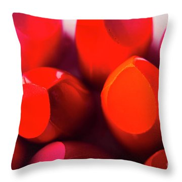 Throw Pillow featuring the photograph Macro Cosmetic Art by Jorgo Photography - Wall Art Gallery