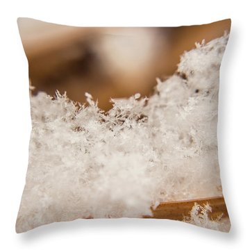 Throw Pillow featuring the photograph Macro Crystal by Tyson Kinnison