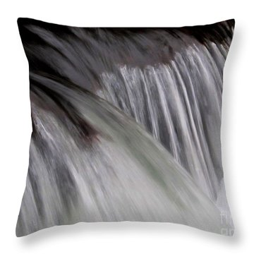 Macro Falls Throw Pillow