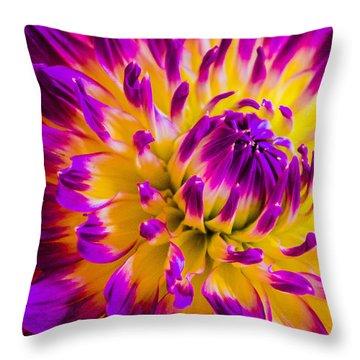 Macro Flora Throw Pillow