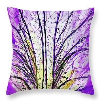 Macro Iris Petal Throw Pillow