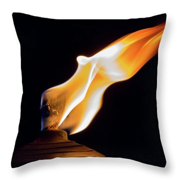 Macro Torch Throw Pillow