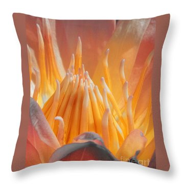 Macro Water Lily Throw Pillow by Chad and Stacey Hall