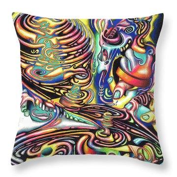 Macrocosmic Creation Of A Splendid Puzzle Throw Pillow