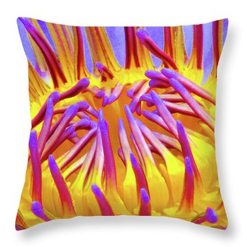 Macro's Lotus Throw Pillow