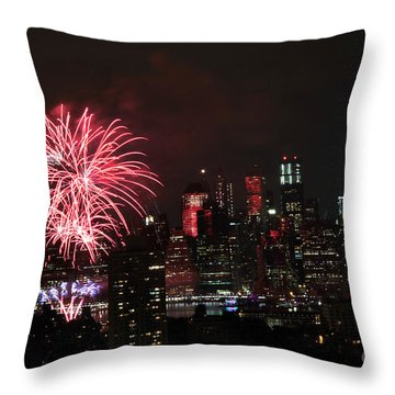 Macy's July 4th 2015 Fireworks-2 Throw Pillow