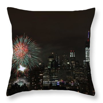 Macy's-july 4th 2015-fireworks-3 Throw Pillow