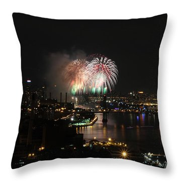 Macy's July 4th 2015 Fireworks-4 Throw Pillow