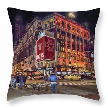 Macy's Of New York Throw Pillow