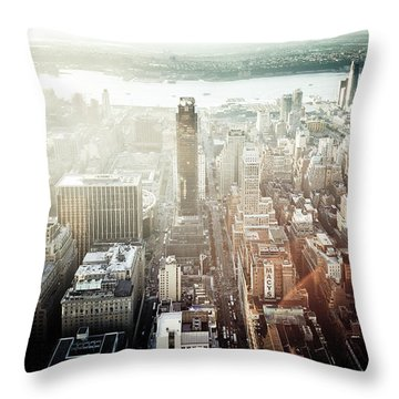 Sunset At Macy's Throw Pillow