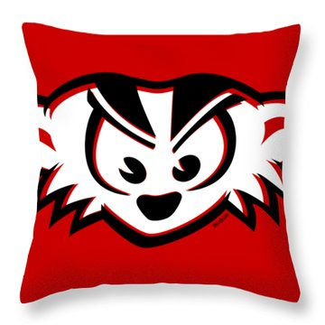 Mad Badger Throw Pillow