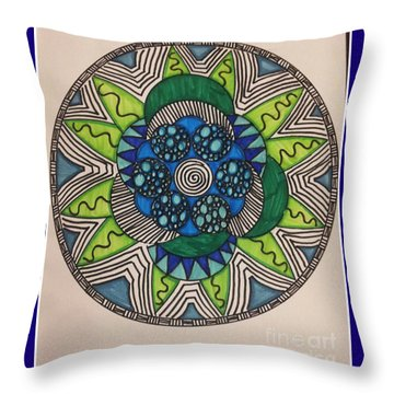 Mad Mandala Throw Pillow