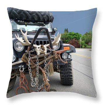 Throw Pillow featuring the photograph Mad Max by Bill Thomson