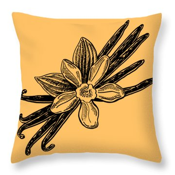 Madagascar Vanilla Throw Pillow