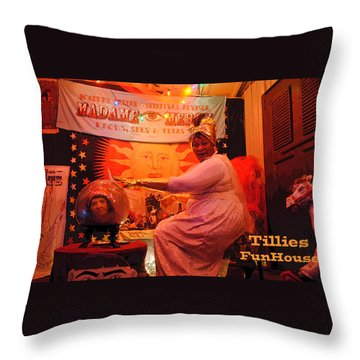 Madam Mercy  Throw Pillow