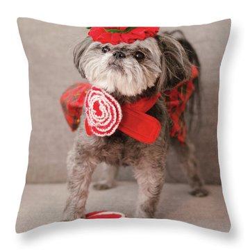 Madam Scarlett In All Red Throw Pillow