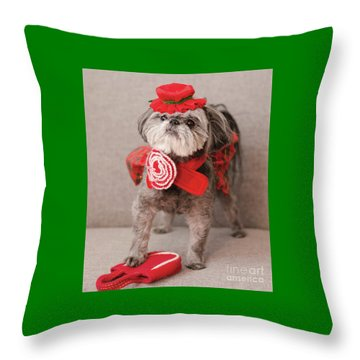 Madam Scarlett In All Red Throw Pillow