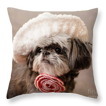 Madam Scarlett Throw Pillow