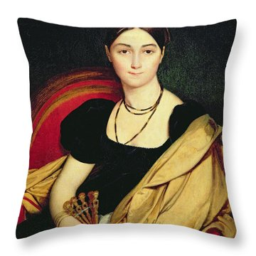 Madame Devaucay Throw Pillow by Jean Auguste Dominique Ingres
