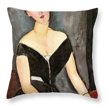 Madame G Van Muyden Throw Pillow by Amedeo Modigliani