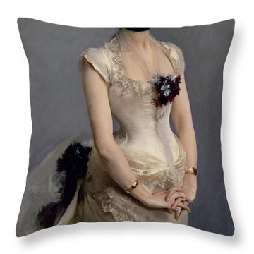 Madame Paul Poirson Throw Pillow by John Singer Sargent
