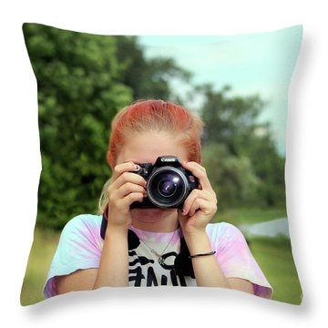 Maddie Ama Throw Pillow