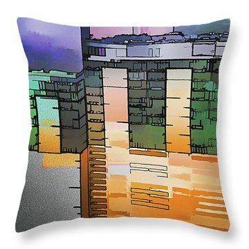 Throw Pillow featuring the digital art Made For Each Other by Wendy J St Christopher