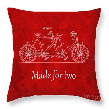 Made For Two - Red Throw Pillow