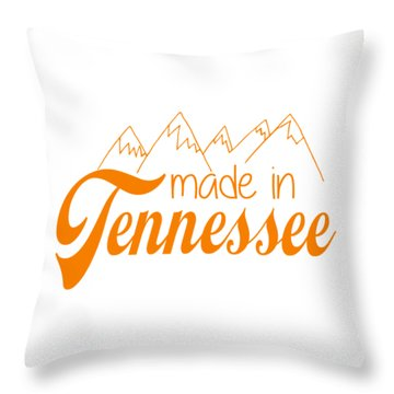 Throw Pillow featuring the digital art Made In Tennessee Orange by Heather Applegate