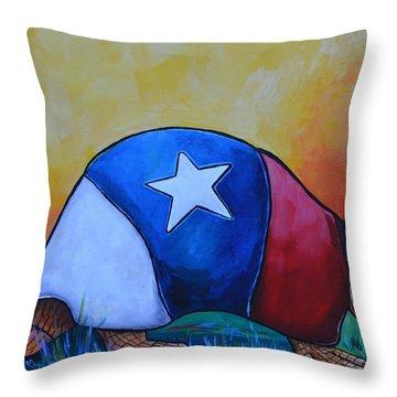Made In Texas Armadillo Throw Pillow