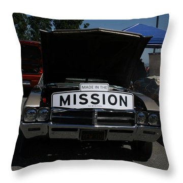 Made In The Mission Throw Pillow