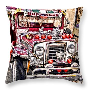 Made In The Philippines Throw Pillow by Jason Abando