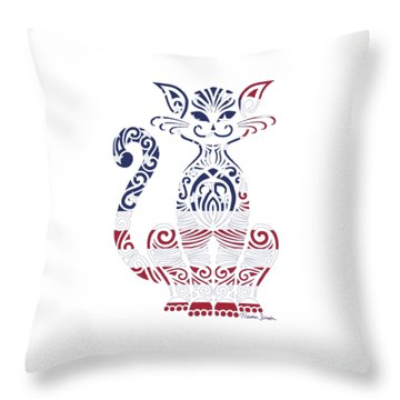 Made In The Usa Cat Throw Pillow