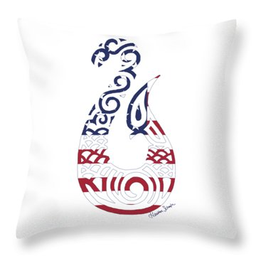 Made In The Usa Tribal Fish Hook Throw Pillow
