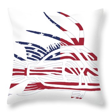 Made In The Usa Tribal Hogfish Throw Pillow