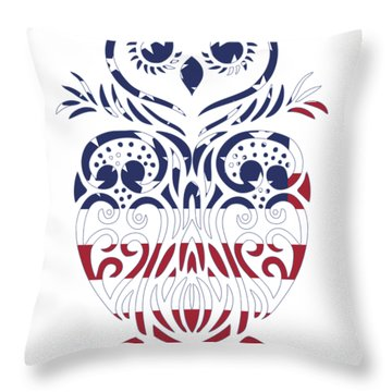 Made In The Usa Tribal Owl Throw Pillow