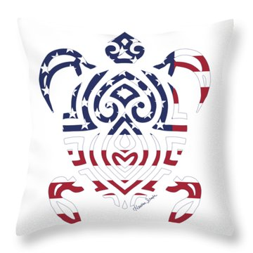 Made In The Usa Tribal Turtle Throw Pillow