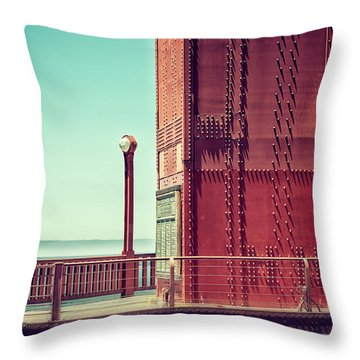 Made Of Steel Throw Pillow