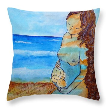 Made Of Water Throw Pillow by Gioia Albano