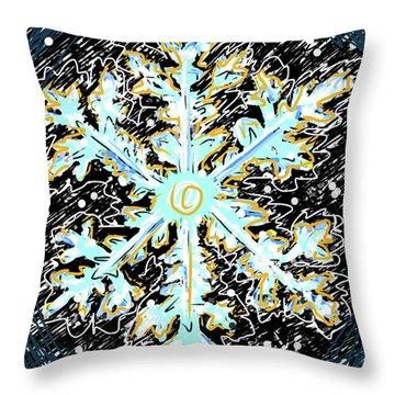 Madeline Snowflake Throw Pillow