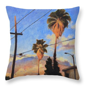 Madison Ave Sunset Throw Pillow