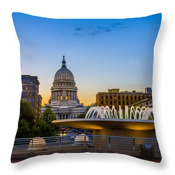 Madison Domes Throw Pillow by Mark Goodman
