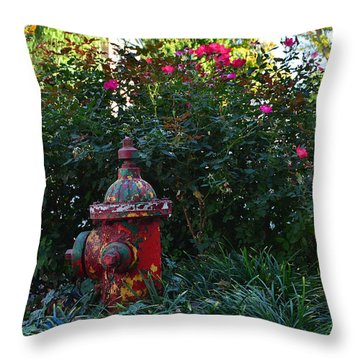 Madison Fire Hydrant Throw Pillow
