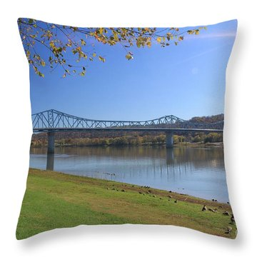 Madison, Indiana Bridge  Throw Pillow