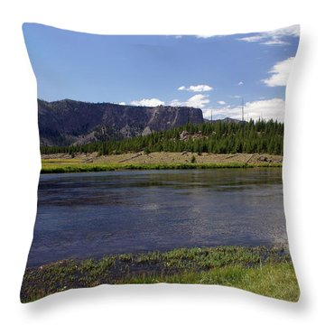 Madison River Valley Throw Pillow by Marty Koch